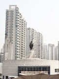 Jesus sculpture and Church at shanghai china Royalty Free Stock Image