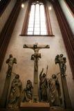 Jesus Sculpture em Francoforte Dom Cathedral fotos de stock