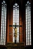 Jesus Sculpture em Francoforte Dom Cathedral foto de stock royalty free