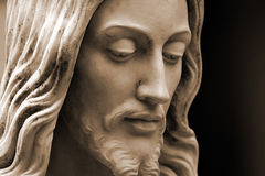 Jesus, sepia-toned photo  copy-space Royalty Free Stock Image