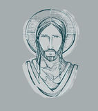 Jesus Serene Face d royalty illustrazione gratis
