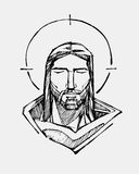 Jesus Serene face Stock Photography