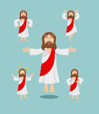 Jesus set of movements. Jesus set of poses. Jesus is expression Royalty Free Stock Photography