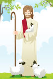 Jesus the shepherd stock illustration