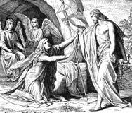 Jesus Shows Himself aan Mary Stock Fotografie