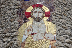Jesus. The shrine of Our Lady of Lourdes in Vepric, Croatia Royalty Free Stock Photography