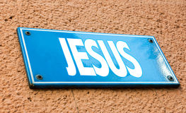 Jesus sign in a conceptual image Royalty Free Stock Photos