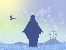 Jesus silhouette Stock Images