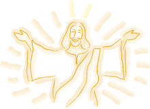 Jesus Sketch stock illustration