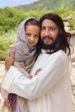Jesus som älskar små barn Royaltyfri Fotografi