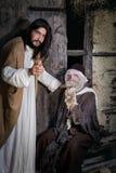 Jesus som läker spetälsken Royaltyfria Foton