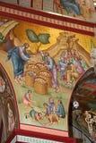 Jesus speist die Menge, Fresko Stockfotografie