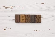 Jesus spelde uit in typereeks Stock Afbeeldingen
