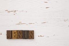 Jesus spelde uit in typereeks Royalty-vrije Stock Foto