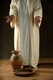 Jesus stå arkivfoto