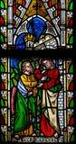 Jesus a St Thomas: Pare de duvidar, mas acredite Imagens de Stock Royalty Free