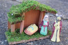 Jesus stable. Jesus in stable Royalty Free Stock Image