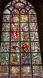 Jesus Stained Glass New Cathedral Nieuwe Kerk Delft Pays-Bas Photographie stock libre de droits