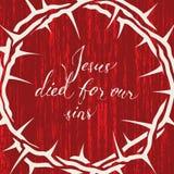 Jesus starb für unsere Sünden lizenzfreie abbildung