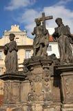 Jesus statue. On the Charles bridge, Prague Royalty Free Stock Image