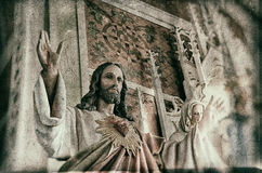 Jesus Statue With Arms Wide aperto Fotografia Stock