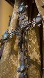 Jesus-Statue auf dem Kreuz Stockfoto
