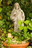 Jesus. Statue of Jesus Christ in greenery Stock Photography