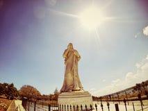 Jesus Statue, Havana Cuba idosa imagens de stock royalty free