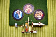 Jesus interior work design royalty free stock images