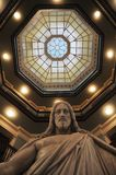Jesus statue in Johns Hopkins Hospital stock images