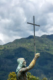 Jesus Statue on Monserrate Stock Photography