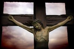 Jesus statue with moody sky Royalty Free Stock Photos