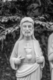 Jesus Statue nas montanhas de mármore, Da Nang, Vietname imagem de stock