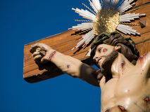 Jesus. Statue in religion holiday in Portugal stock photography