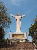 Jesus Statue - Vietnam, Vung Tau. Christ of Vung Tau is a statue of Jesus, located on Mount Nho in Vung Tau, Ba Ria-Vung Tau Province, Nam Bo, Vietnam. It was Stock Photo
