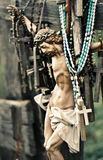 Jesus. Statuette of Jesus crucified on the cross Stock Image