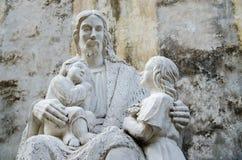 Jesus staty Royaltyfria Bilder