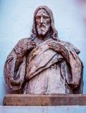 Jesus staty i den Prague Tjeckien Arkivbilder