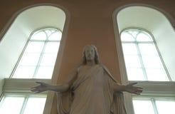 Jesus staty i kyrka Royaltyfri Fotografi