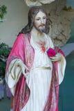 Jesus staty i museum arkivbild