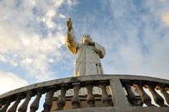 Jesus staty i Nicaragua Arkivfoton