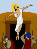 jesus stigning Arkivfoton