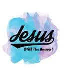 Jesus Still het Antwoord stock illustratie
