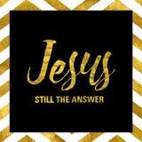 Jesus Still het Antwoord royalty-vrije illustratie