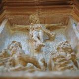 Jesus stone - carved Royalty Free Stock Image