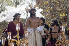 Jesus stripped of his garments, Easter in Seville Royalty Free Stock Photo