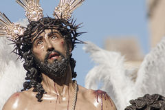 Jesus stripped of his garments, Easter in Seville. Step mystery of the Brotherhood of Jesus stripped of his garments in the celebration of Holy Week in Seville stock images