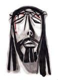 Jesus Suffering enfrenta Fotografia de Stock