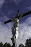 Jesus sulla traversa Immagini Stock Libere da Diritti