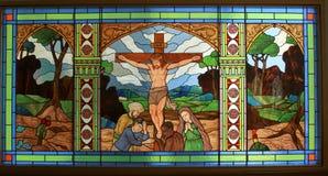 Jesus sulla traversa Immagine Stock Libera da Diritti
